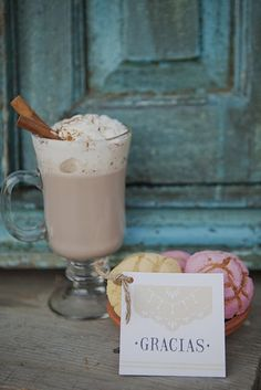 """Mexican hot chocolate for desert with """"gracias"""" thank you cards?  I think so!"""
