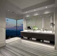 Bathroom, Castle in the Sky, Big Sky, Montana by Locati Architects; Interior design by Locati Interiors; Built by PRG Group; Photography by Gibeon.