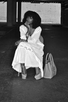 Style Pantry | White Bohemian Midi Dress