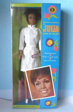vintage barbieJulia, Diahann Carroll, from TV show.  I threw a fit to get this doll.  Loved her and she talked.