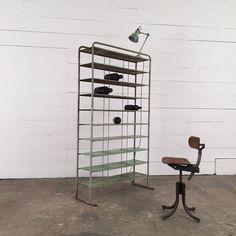 industrial metal painted shelf