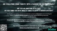 DO YOU THINK YOU'VE GOT WHAT IT TAKES TO SOLVE A MURDER MYSTERY? New Television, British People, What It Takes, Press Release, True Crime, Detective, Comebacks, Thinking Of You, Mystery