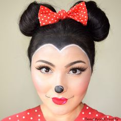 Beautify and Creatify: Minnie Mouse Makeup and Hair Tutorial - Easy Halloween Costume
