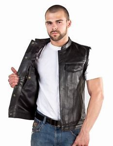 para hombre outlaw cuero moto club chaleco motero llevar oculta para armas de fuego - Categoria: Avisos Clasificados Gratis  Estado del Producto: New with tagsProduct Detail: Concealed Carry Leather Vest Made from Heavy Duty Cowhide Leather Vest is Lined 4 Hidden Snaps 2 Front Pockets 1 Panel Back for Club Colors & Patches Gun Pocket w Strap for muzzle both sides Black LinerChest Letter Size3638 = Small4042 = Medium4446 = Large4850 = XL5254 = 2XL5658 = 3XL60 = 4XL62 = 5XL64 = 6XLHow many…