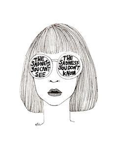 line drawing - illustration Tumblr Drawings, Sad Drawings, Drawn Art, Art Plastique, Line Drawing, Art Inspo, Line Art, Pop Art, Art Photography