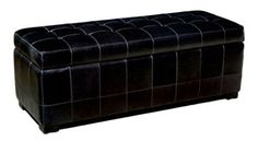 Leather Storage Bench Ottoman Furniture Coffee Table Company Seating Home #BaxtonStudio