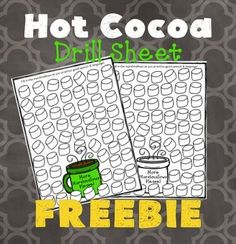 Open-Ended Hot Cocoa Drill Sheet FREEBIEI made this winter drill sheet to use during those chilly winter months. This is an open-ended drill sheet that you can use with any speech and language target!  How to use: There are two drill sheets (one full color and one black & white) included that could be used with any articulation or language card set or activity.