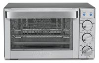 0.9 Cu. Ft. Capacity/ 1700 Watts Of Power/ Bake, Convection Bake, Roast And Broil Functions/ Will Accommodate Quarter-Sheet Pan/ UL Listed/ Three Shelf Positions/ Includes 2 Wire Racks And Stainless Steel Baking Tray/ Brushed Stainless Steel Finish