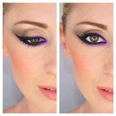 #eyeliner #purplemakeup #eyebrow #makeup #makeupaddict #makeupstyle