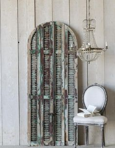 Chocolate Vintage Arched Shutters