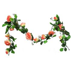 Great value for buying in bulk. 11 feet of rose bloom garlands. These garlands are long and full of blooms. They are fantastic for wedding and special event dcor. Outdoor Garland, Pre Lit Garland, Crystal Garland, Pine Garland, Berry Garland, Light Garland, Wedding Color Schemes, Wedding Colors, Autumn Decorating