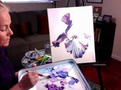 Watercolor Painting Demo - Purple Iris - YouTube