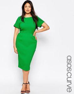 Plus Size Midi Dress in Texture