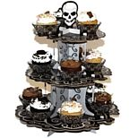 Perfect for Halloween Decorations, Halloween Party Props. Display your spooky cupcakes on this Fright Night cake stand with 3 tiers. Cake stand measures 35.5cm tall. £2.95
