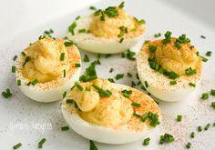 Deviled Eggs | Skinnytaste  Carbs=1.0 gms per serving