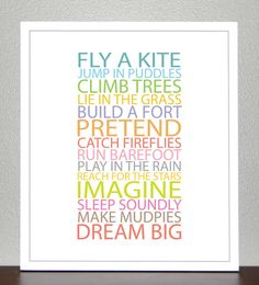 Prints for kids Inspiration quote prints for by CreativeWildChild