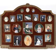Family Portrait Miniatures. 19th Century, comprising members of the houses Bourbon-Two Sicilies and Habsburg-Lorraine as related to Princess Maria Antonia of the Two Sicilies (1814-1898), Grand Duchess of Tuscany from 1833 to 1859