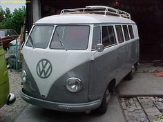 1951 VW Bus barn door UK.
