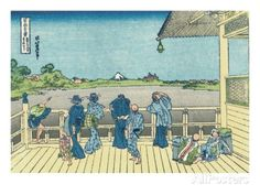 Sazai Hall of the Five-Hundred-Rakan Temple Giclee Print by Katsushika Hokusai at AllPosters.com