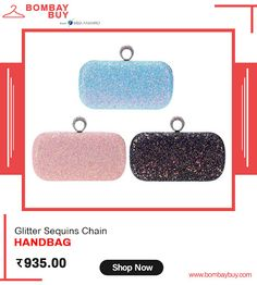 Sparkle your outfit with very cute glittering Sequins Chain Handbag for women online from Tote Purse, Clutch Bag, Envelope Clutch, Blue Glitter, Online Fashion Stores, Handbags Online, Women's Accessories, Sparkle, Sequins