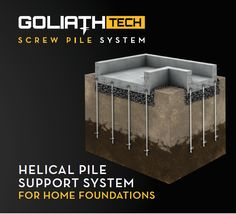 Helix or Helical Piles for Foundations