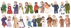 Tags: Axis Powers: Hetalia, Taiwan, Japan, Liechtenstein, Switzerland, Belarus, France, Hong Kong, Hungary, China, Prussia, Russia, Ukraine, Lithuania, North Italy, Germany, United States, United Kingdom, Austria, Spain, Canada, Poland, South Italy, Gilbird, Shinatty-chan, Monaco, United Kingdom (Female), Nyotalia, Ninonuko
