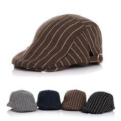 Kids Boy Girl Hat Stripe Gatsby Cap Golf Driving Flat Cabbie Hats.  Description   Material   Cotton Blend ... 6146dea952f
