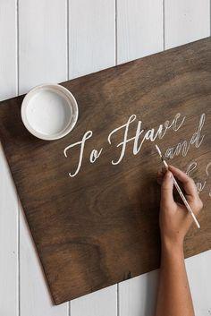 DIY Vintage Wooden Wedding Signs