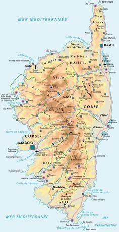 Carte de la Corse Detaillee