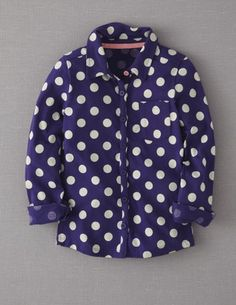 I've spotted this @BodenClothing Spotty Jersey Shirt Blue Marine Spot for my Gracie girl