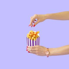 Reach for the Fries // Violet Tinder Studios Swatch, Hand Photography, Photography Ideas, Beauty Bakerie, Stop Motion, Art Direction, Graphic Design, Photo And Video, Purple