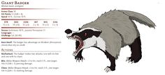The Giant Badger appeared in the original Moster Manual as a footnote in the entry for the common.