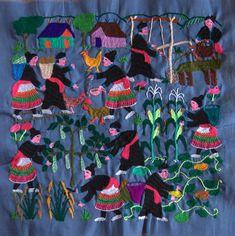 "Hmong story cloths (called ""Paj Ntaub Tib Neeg"" in Hmong) Laos"