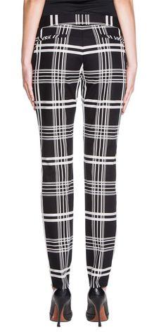 Cue Check Cotton Slim Pants