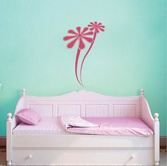 Two Daisies Wall Decal Flower Wall Vinyl by TrendyWallDesigns