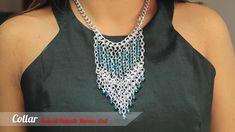 Cómo hacer Collar Pectoral plateado Murano Azul Kit. 28075