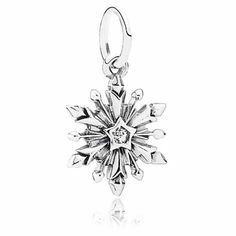 disney parks frozen snowflake dangle pandora jewerly charm new with pouch