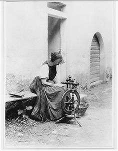 Old Woman with Spinning Wheel  Alfred Stieglitz (American, Hoboken, New Jersey 1864–1946 New York)  Date: 1894, printed 1920s