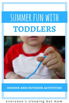 How to Have Fun with Your Toddler This Summer. Great indoor and outdoor activities to keep your toddler busy all summer long. Everyone's Sleeping but Mom Summer Activities For Toddlers, Outdoor Summer Activities, Toddler Activities, Baby Activites, Toddler Crafts, Kid Crafts, Newborn Activities, Montessori Activities, Montessori Toddler