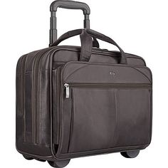 506b13314740 Solo Walker Leather 15.6. Rolling BriefcaseRolling Laptop CaseLeather  Laptop CaseCarry On ...