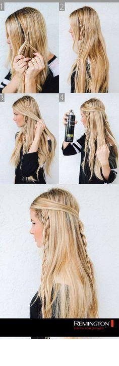 Dale un toque bohemio a tu look haciendo este sencillo peinado  y deslumbra a todo el que pase junto a ti.