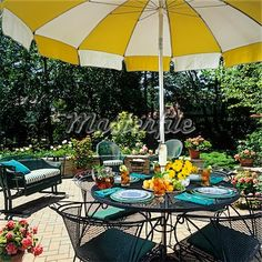 yellow patio furniture. Retro Patio Furniture Yellow And White Umbrella - Google Search L