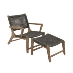$505 for firepit area Comfortable Set Of Two Wood Rope Outdoor Chair With Footrest