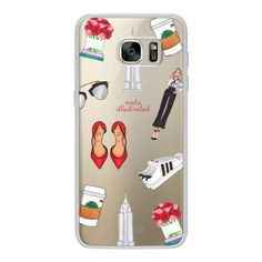 NYC Babe- Starbucks Coffee- Shoes- Empire State by Moda Illustrated -... ($40) ❤ liked on Polyvore featuring android case