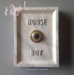 House Boy Service Button ( ringing version ) Carrera marble finish concrete https://www.etsy.com/listing/398282809/house-boy-service-button-ringing-version?show_panel=true