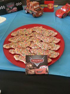Racing Fairy Bread - my son's 3rd birthday party, cars theme