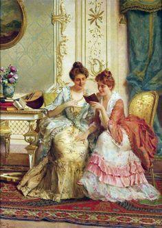 What Happens Next? Guglielmo Zocchi (Italian, 1874-1957). Oil on canvas.