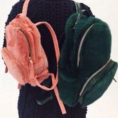 Mini Fur Backpacks
