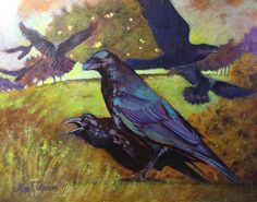 """ Raven's Call "" Sept/ 15  11""x14"" acrylic"