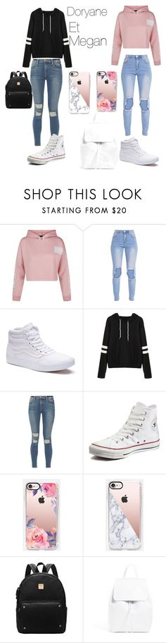 """Sans titre #31"" by megan-simard on Polyvore featuring mode, New Look, Vans, Frame, Converse et Casetify"